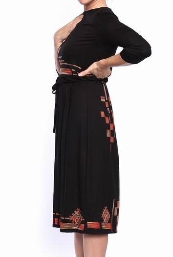 Kleita ar ornamentu zīdīšanai un grūtniecībai - izmērs S, XL