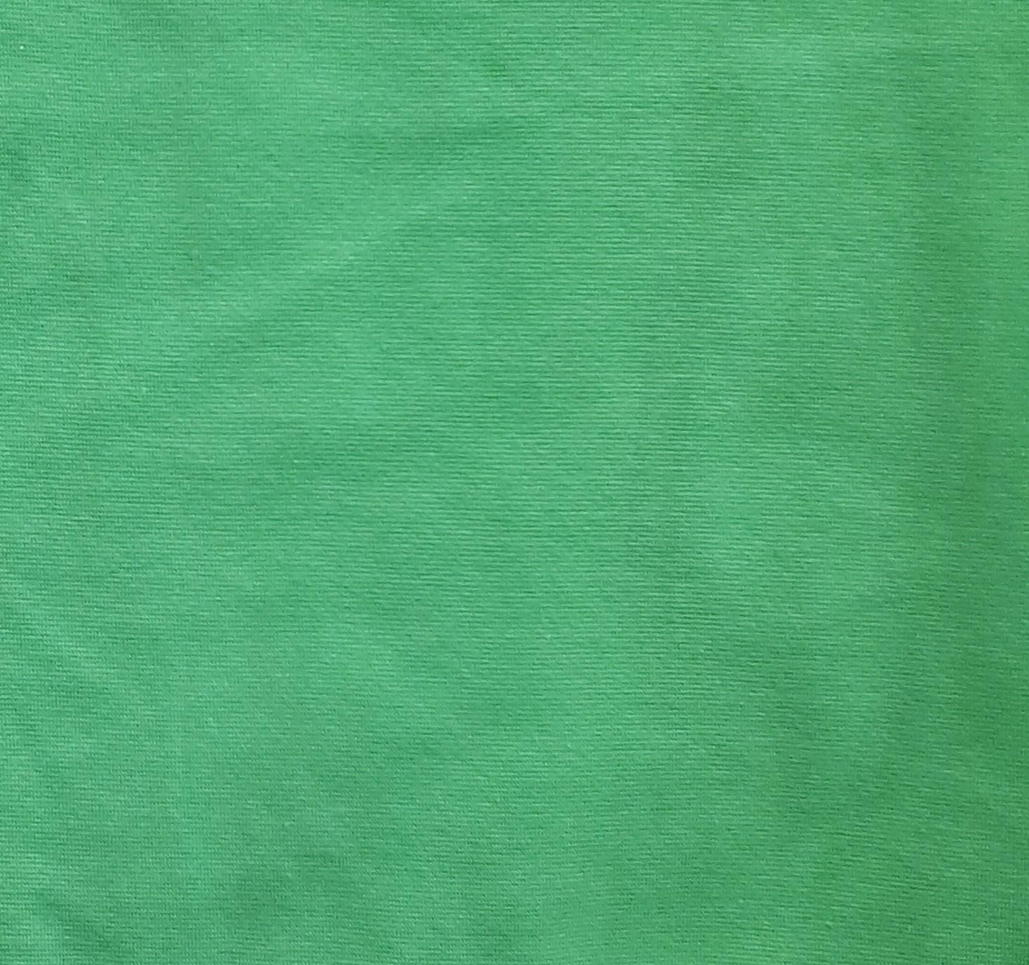 Zaļais kokvilnas ribs apdarei
