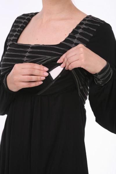 """""""Folk Babdoll"""" topiņš zīdīšanai un grūtniecībai - apģērbs zīdīšanai, apģērbs barojošām un topošajām māmiņām"""