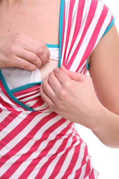 Strīpains krekliņš zīdīšanai un grūtniecēm - BASIC