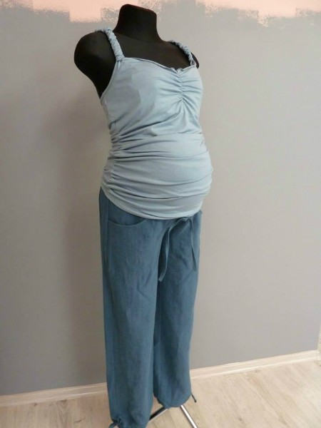 Grūtnieču lina bikses